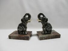 ANCIEN SERRE LIVRE ART DECO H MOREAU ELEPHANTS SCULPTURE ANIMALIERE BOOKENDS