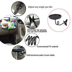 Round Car Multifunction Tray Drink Holder/Dining Table Avoid Rolling or Sliding