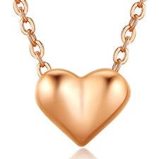 Elegant 18K Rose Gold Plated Heart Pendant Necklace NF190