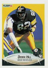 1990 Fleer Football Card #142 Derek Hill RC