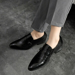 Mens Pointed Toe Work Office Nightclub Shoes Chic Dress Formal Business Leisure