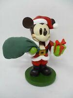 """Vintage Disney 8"""" Mickey Mouse Santa Nutcracker Figurine"""