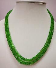 210.10 Cts Tsavorite Green Garnet Smooth Plain Rondelle Beads 4 MM-8MM