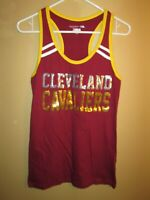 MINT 5th & Ocean New Era NBA Cleveland Cavaliers SEQUINS Logo Maroon TANK Small