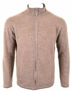 MAMMUT Mens Cardigan Sweater Large Brown Polyester GH02