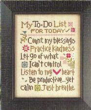 """""""MY TO DO LIST""""  #158  Cross Stitch Pattern from Lizzie Kate"""