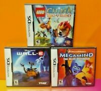 Brand New Sealed Game Lot Nintendo DS DS Lite 3DS 2DS Lego Chima Megamind Wall E