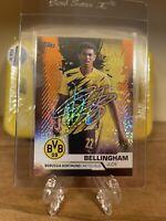JUDE BELLINGHAM -Topps BVB Team Set Orange Holo-Foil Dortmund Printed Auto - /75
