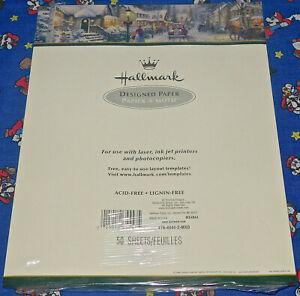 Vintage 2000 Hallmark Designed Paper 50 Sheets Thomas Kinkade New Printer Laser