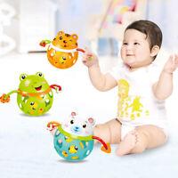 Baby Rattles Hand Shake Intelligence Grasping Gum Animal Music Educational Toy