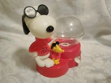 VINTAGE JOE COOL & WOODSTOCK PEANUTS GUMBALL MACHINE BY SUPERIOR TOY