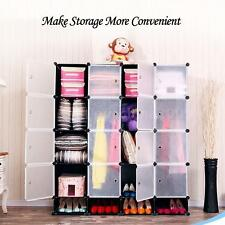 IKAYAA 16 Cubes DIY Clothes Shoes Storage Organizer Closet Wardrobe Cabinet