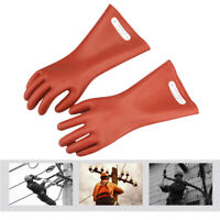 Rubber Insulated Safety 12KV High Voltage Insulating Gloves For Electricians