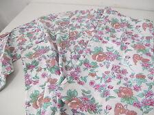 Damen Schlafanzug Langarm  Gr.44/46  Grün Rosa Blumen True Vintage  *74*