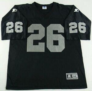 Vintage Starter Oakland Raiders Napoleon Kaufman Football Jersey Size Mens 52