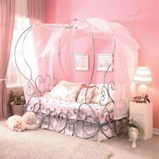 Rosebery Kids Twin Canopy Bed in Silver