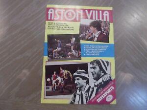 ASTON VILLA V EVERTON FOOTBALL PROGRAMME  12.02.1983