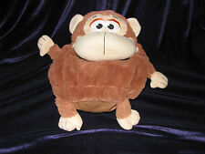 2013 STUFFED PLUSH JAY AT PLAY BROWN MONKEY TUMMY STUFFERS 15""