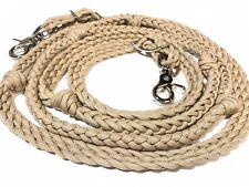 hand braided  Barrel reins with grip knots, desert sand reins western horse tack