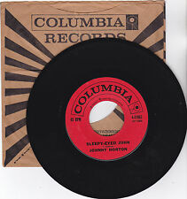 JOHNNY HORTON-COLUMBIA 41953 COUNTRY ROCK 45RPM SLEEPY-EYED JOHN  VG++