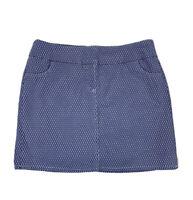 Attyre Women's Size 10 Multicolor Geometric Print Chambray Stretch Skirt Skort
