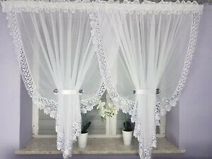 "Amazing voile net curtain white lace guipure160cm x 400cm, 62"" x 157"" firany"