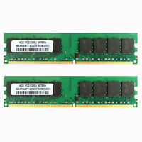 8GB For Intel 2x 4GB 2RX8 PC2-5300U DDR2 667Mhz CL5 1.8V DIMM Desktop Memory RAM
