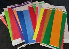 "100  3/4""  RANDOM ASSORTED TYVEK WRISTBANDS, PAPER WRISTBANDS, FREE SHIP IN USA"