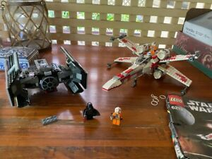 Lego Star Wars X-Wing 6212 & TIE Fighter Advanced 8017 Lot New Hope Vader
