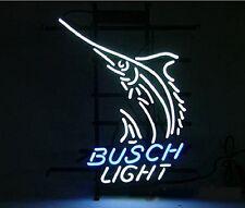 """New Busch Light Swordfish Pub Bar Neon Sign 17""""x14"""""""
