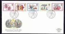 Great Britain 1982 Christmas Carols First Day Cover - 218b to Australia