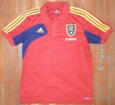 Adidas REAL SALT LAKE RSL Club Team Red SOCCER POLO SHIRT Jersey Sz Men MEDIUM