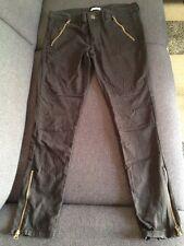 Pantalon Noir Slim Style Motard Taille 38 La Redoute