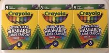 School Supplies (3) Packs Crayola Washable Large Crayons