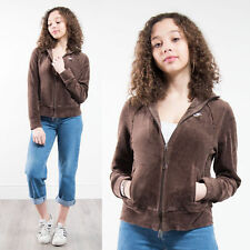 NIKE VELOUR BROWN TRACKSUIT JACKET TOP WOMENS CASUAL ZIP FASTEN GYM JOG RUN 8
