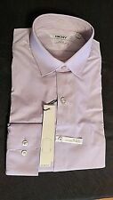 DKNY Mens Dress Shirt Slim Fit Stretch Long Sleeve 15.5 32/33 Purple #8271