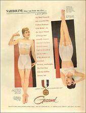 1950 vintage AD GROSSARD Narroline Girdles , Flair Bras neat layout!  040517