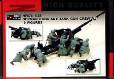 Hobby Fan 1/35 HF-576 WWII German 8.8cm Anti-Tank Gun Crew Set - 9 Figures