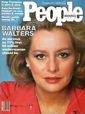 BARBARA WALTERS + Peter Frampton Oct 11, 1976 PEOPLE WEEKLY Magazine Anchorwoman
