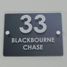 Garden Gate Sign Crow Bird Silhouette House Door Number Plaque 0 to 99