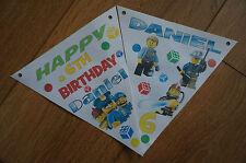 PERSONALISED LEGO CITY BUNTING /BANNER / BIRTHDAY DECORATION