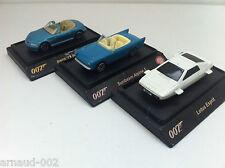 Shell - 3 voitures James Bond 007  BMW Z3 Roadster Sunbeam Alpine 5 Lotus Esprit