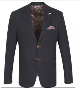New Men's Guide London Dark Navy Blazer Size 46 £99.99 RRP £200