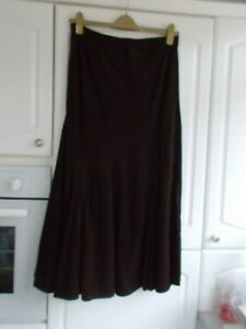 M&S SIZE 12 BROWN CORD SKIRT