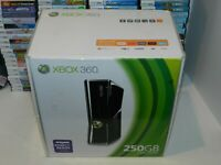 Microsoft Xbox 360 S Slim 250 GB Gloss Black System 1439 BOX ONLY