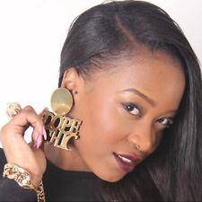 Oversized Punk Gold Earrings Hip-hop Acrylic DOPE CHIC Letters Big Earrings