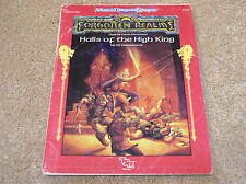 AD&D Forgotten Realms FA1 - Halls of the High King adventure - no map