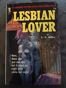 Vintage Lesbian Pulp Fiction Paperback PB - Lesbian Lover - Sleaze
