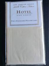 New HOTEL Fine Linens 600TC 100% Cotton Sateen Standard Pillowcases (#16)