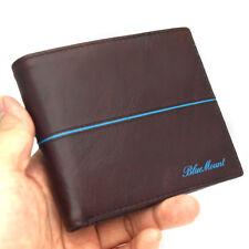 Slim Vintage Leather Wallet For Mens Credit Card Wallet Zippered Pocket Purse